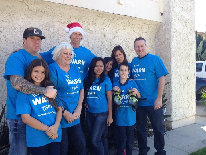 Warn Family Xmas T-Shirt Photo