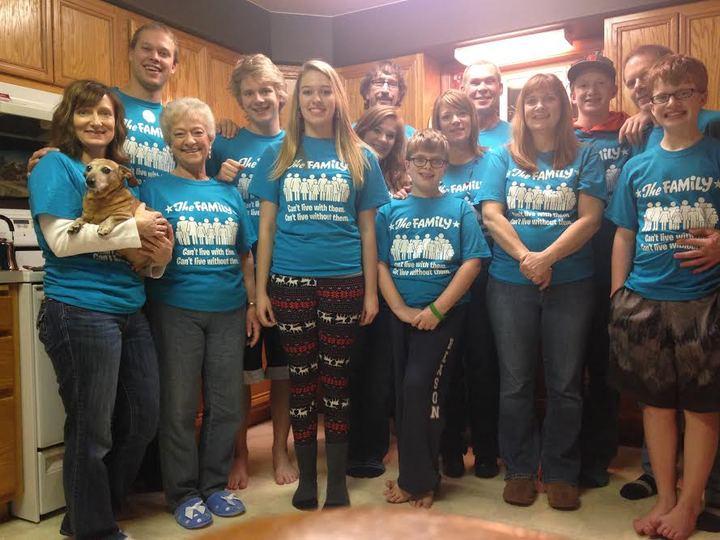 The Family At Christmas T-Shirt Photo