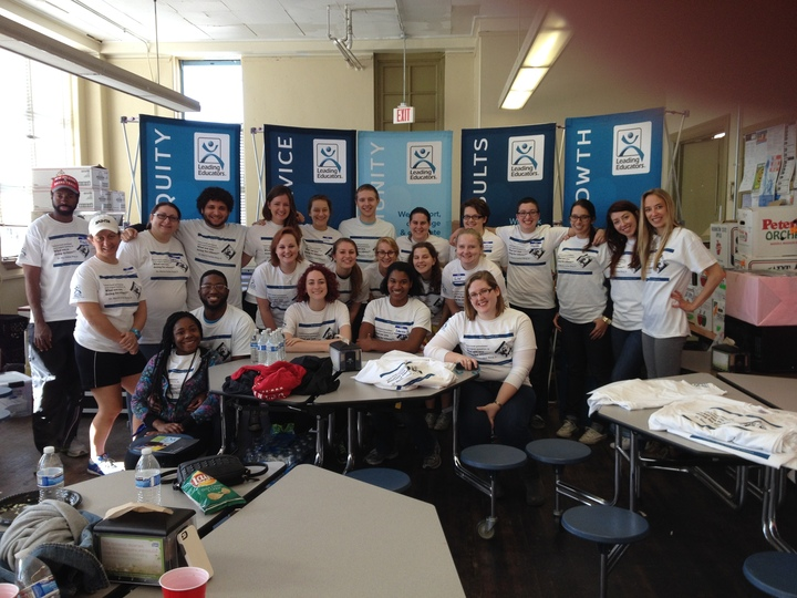 Leading Educators' Volunteers Look Great At Our Mlk Day Of Service! T-Shirt Photo