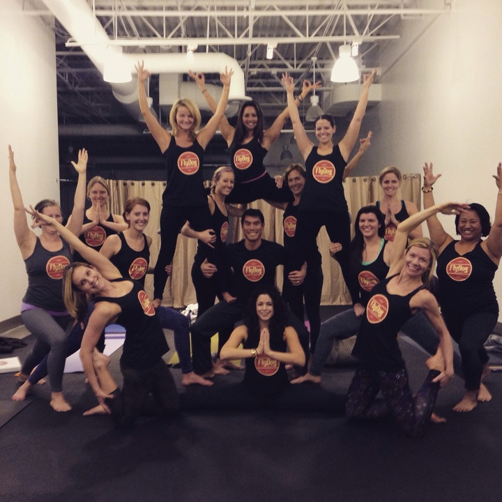 Fly Dog Yoga Teacher Training T-Shirt Photo