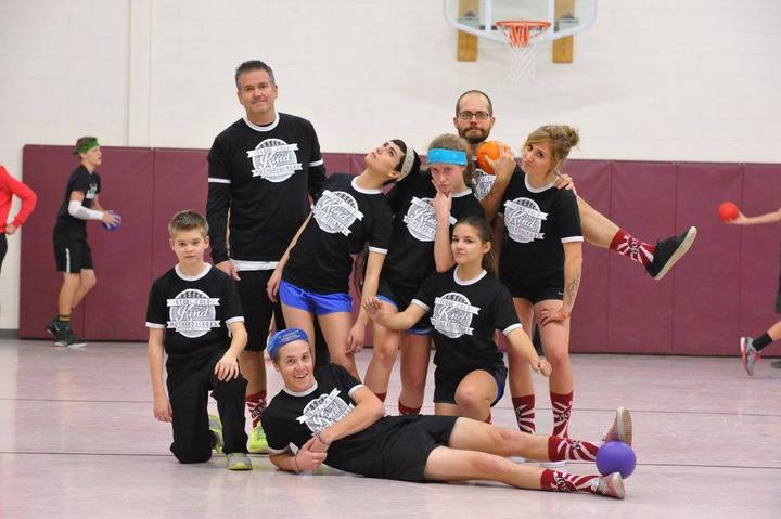 Stone Cold Kind Motherduckers Dodgeball Team T-Shirt Photo