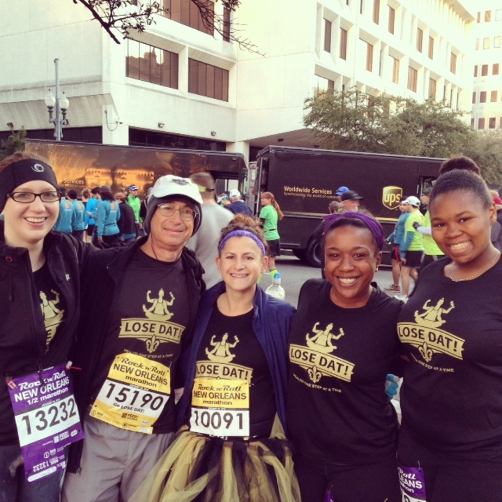 Team Lose Dat At The Rock N' Roll New Orleans Marathon T-Shirt Photo