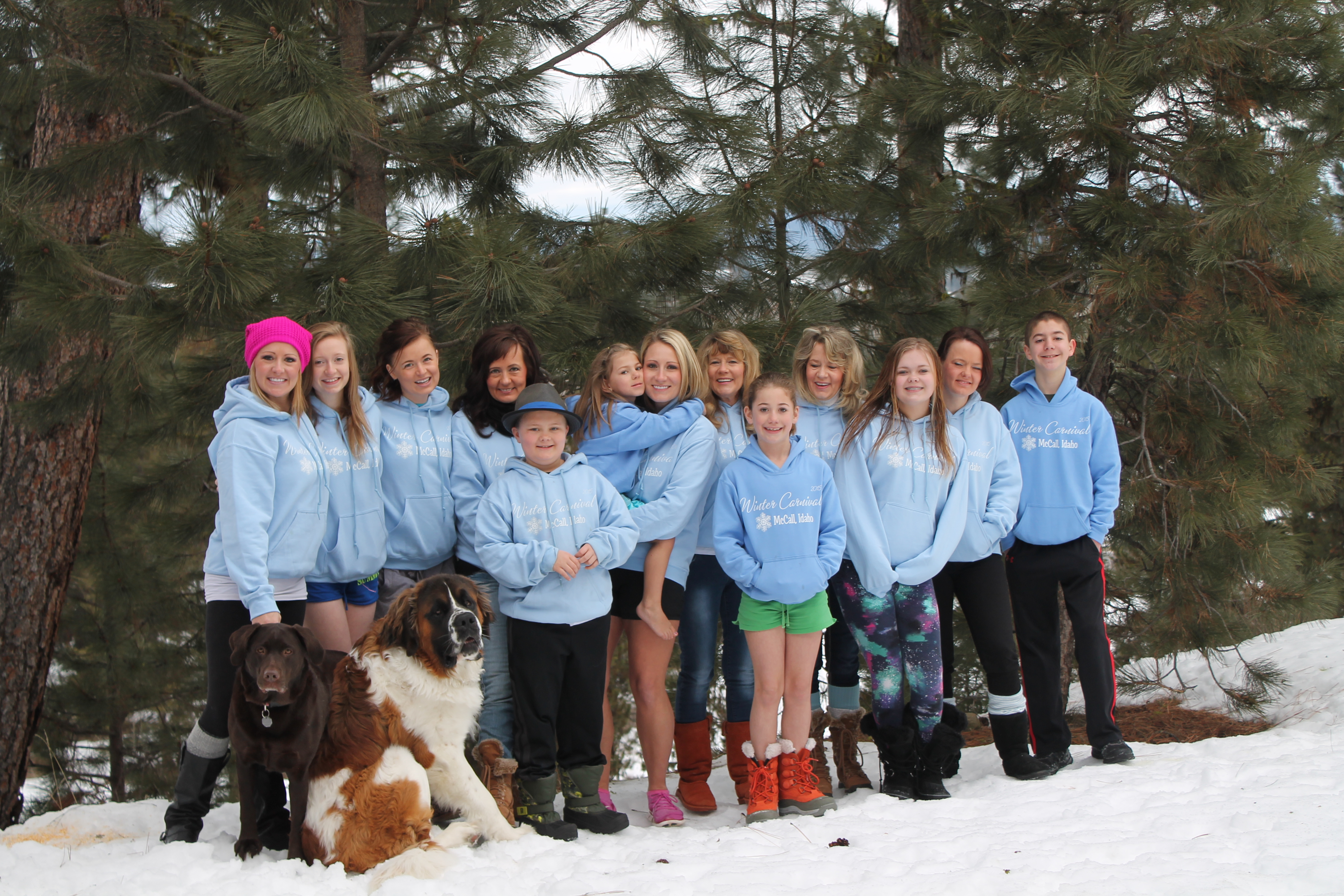 Design your own t-shirt for dogs - Winter Carnival 2015 Girls Week End And Kids And Dogs T Shirt Photo