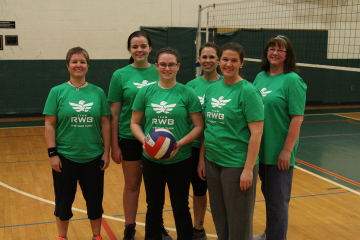 Team Rwb Lock Haven Wmspt Ladies Volleyball T-Shirt Photo