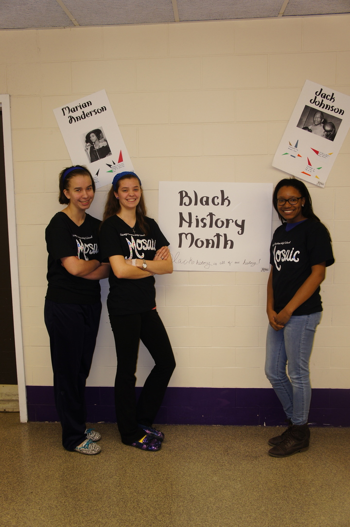 Mosaic Diversity Club Pride During Black History Month T-Shirt Photo