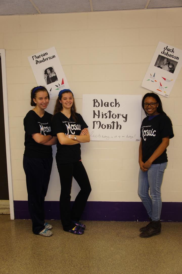Mosaic Diversity Club Pride During Black History Month T-Shirt Photo