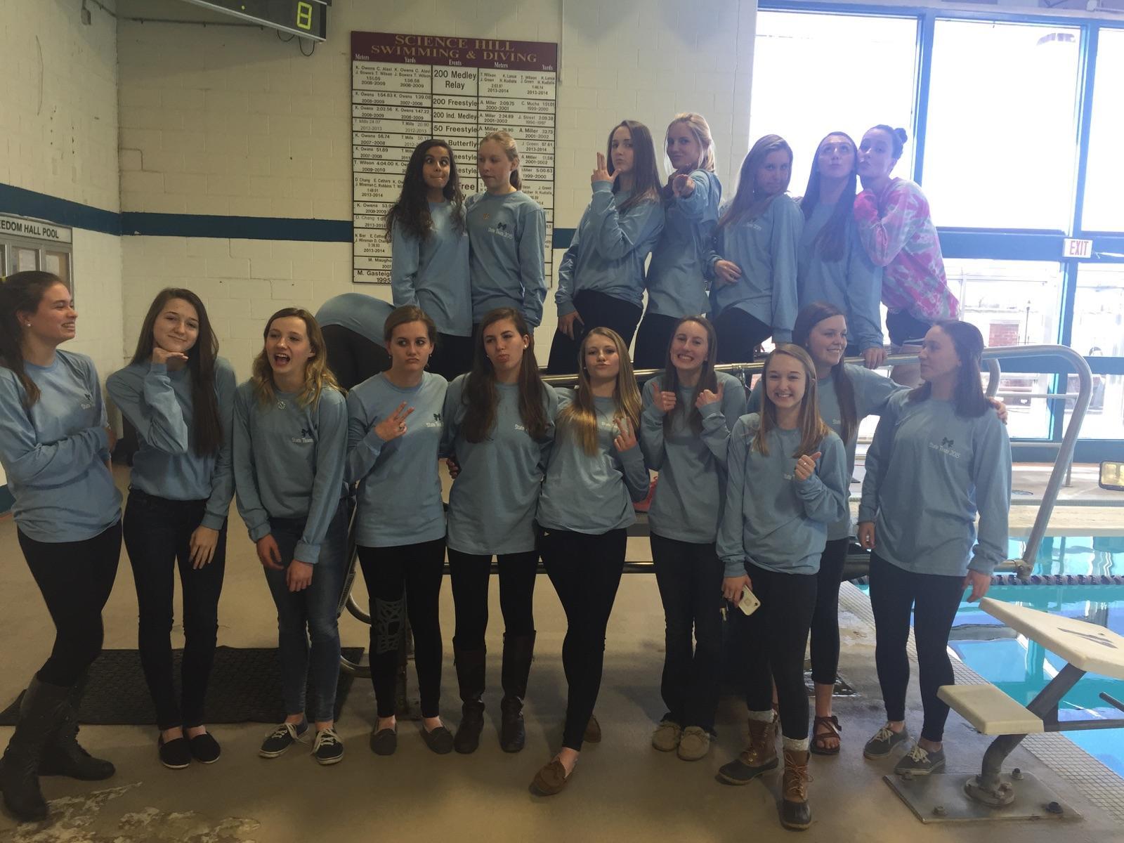 Shirt design for girl 2015 - Shhs Girls State Team 2015 T Shirt Photo