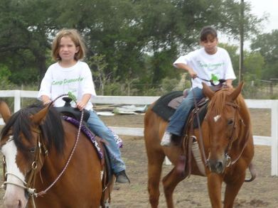 Riding At Camp Diamond W T-Shirt Photo