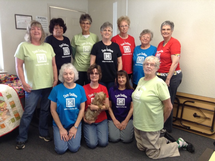 Dam Quilters, Quilting For A Cause! T-Shirt Photo
