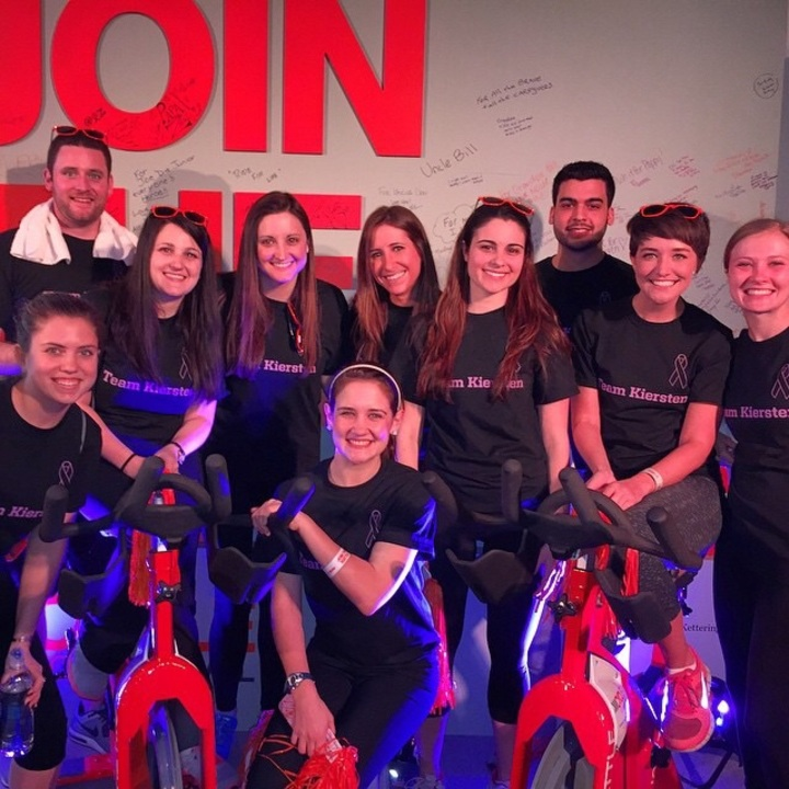 Team Kiersten At Cycle For Survival Nyc T-Shirt Photo