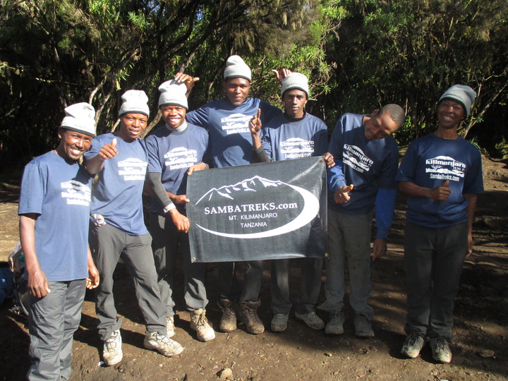 Samba Treks Kilimanjaro Team T-Shirt Photo