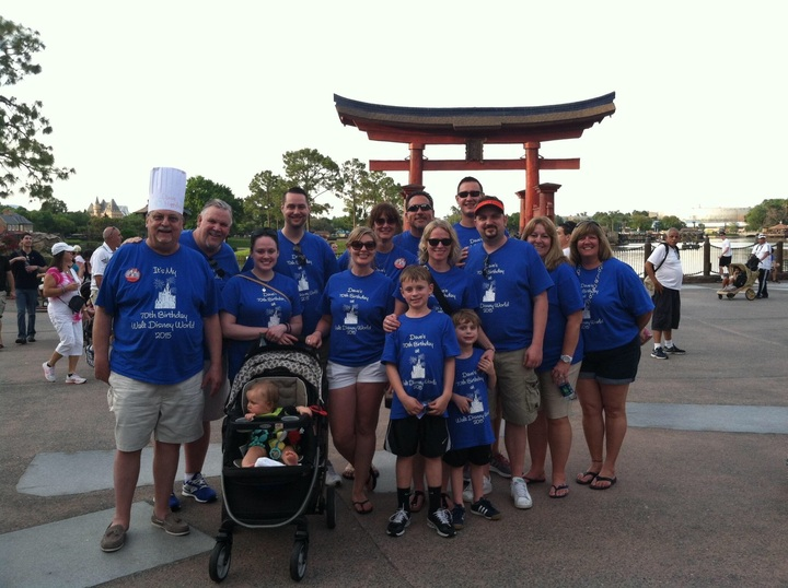 Dave's 70th Birthday Is Disney 2015 T-Shirt Photo