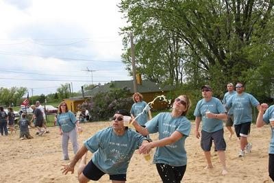 Beer In Hand Volleyball Tourney T-Shirt Photo