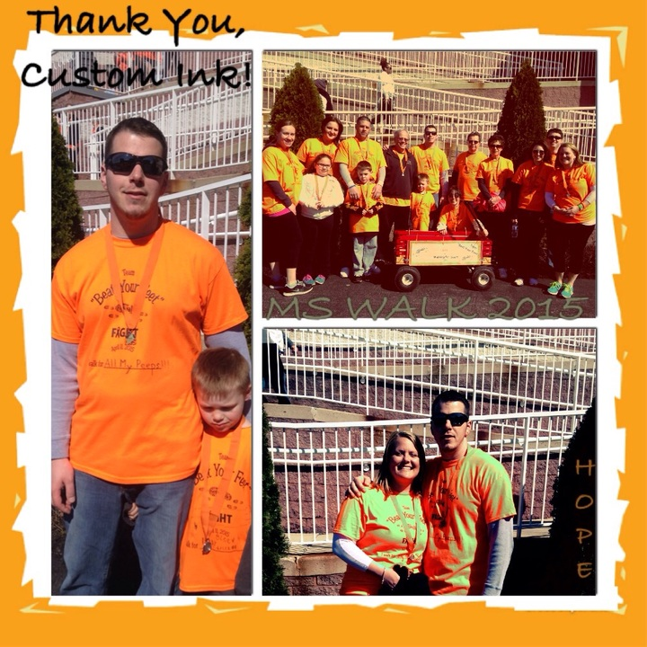 "Ms Walk 2015 Team ""Beat Your Feet"" For Scott T-Shirt Photo"
