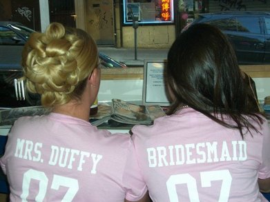 Mrs. Duffy And A Bridesmaid T-Shirt Photo