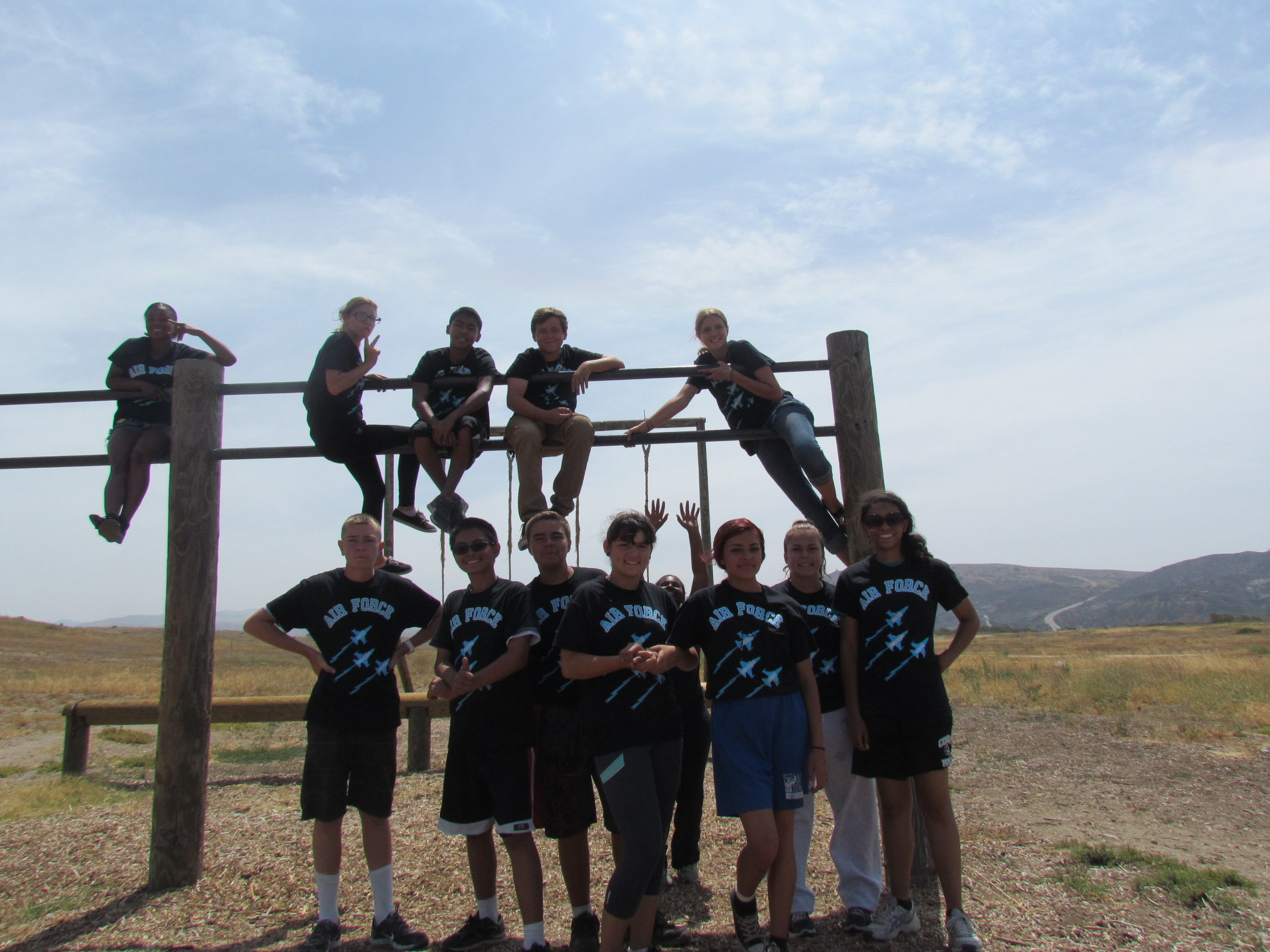 Shirt design course - Afjrotc In Action Obstacle Course Camp Pendleton T Shirt Photo