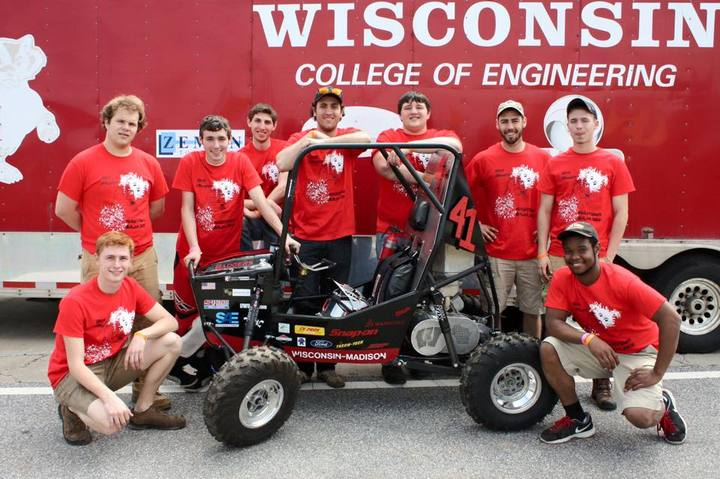Uw Madison Baja Atv Team T-Shirt Photo