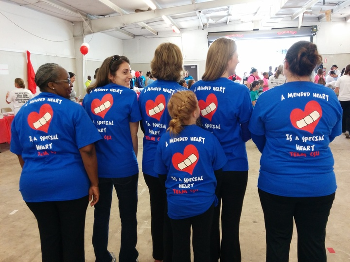 Team Csu At The Congenital Heart Walk T-Shirt Photo