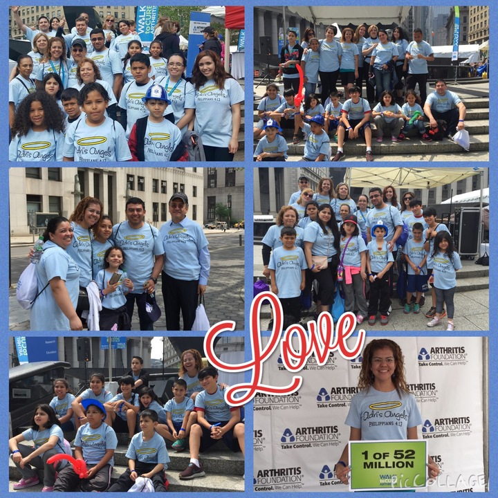 Nyc Arthritis Walk 2015 Adri's Angels T-Shirt Photo