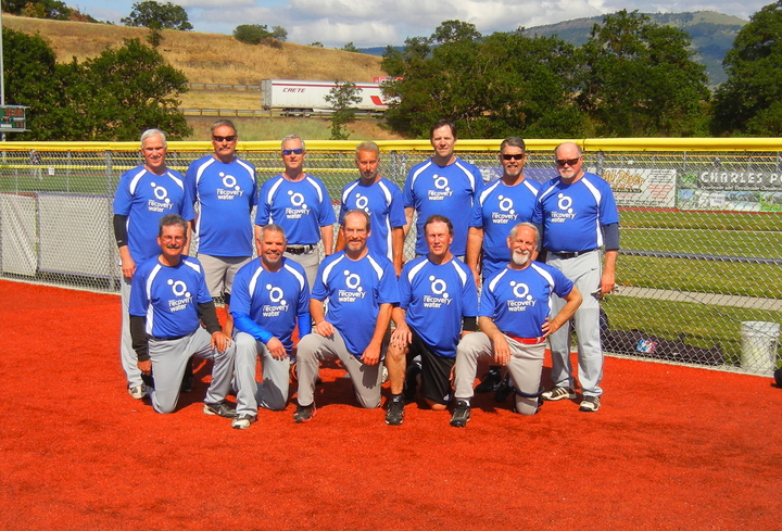 Reliant Recovery Water 65 Senior Softball Team T-Shirt Photo