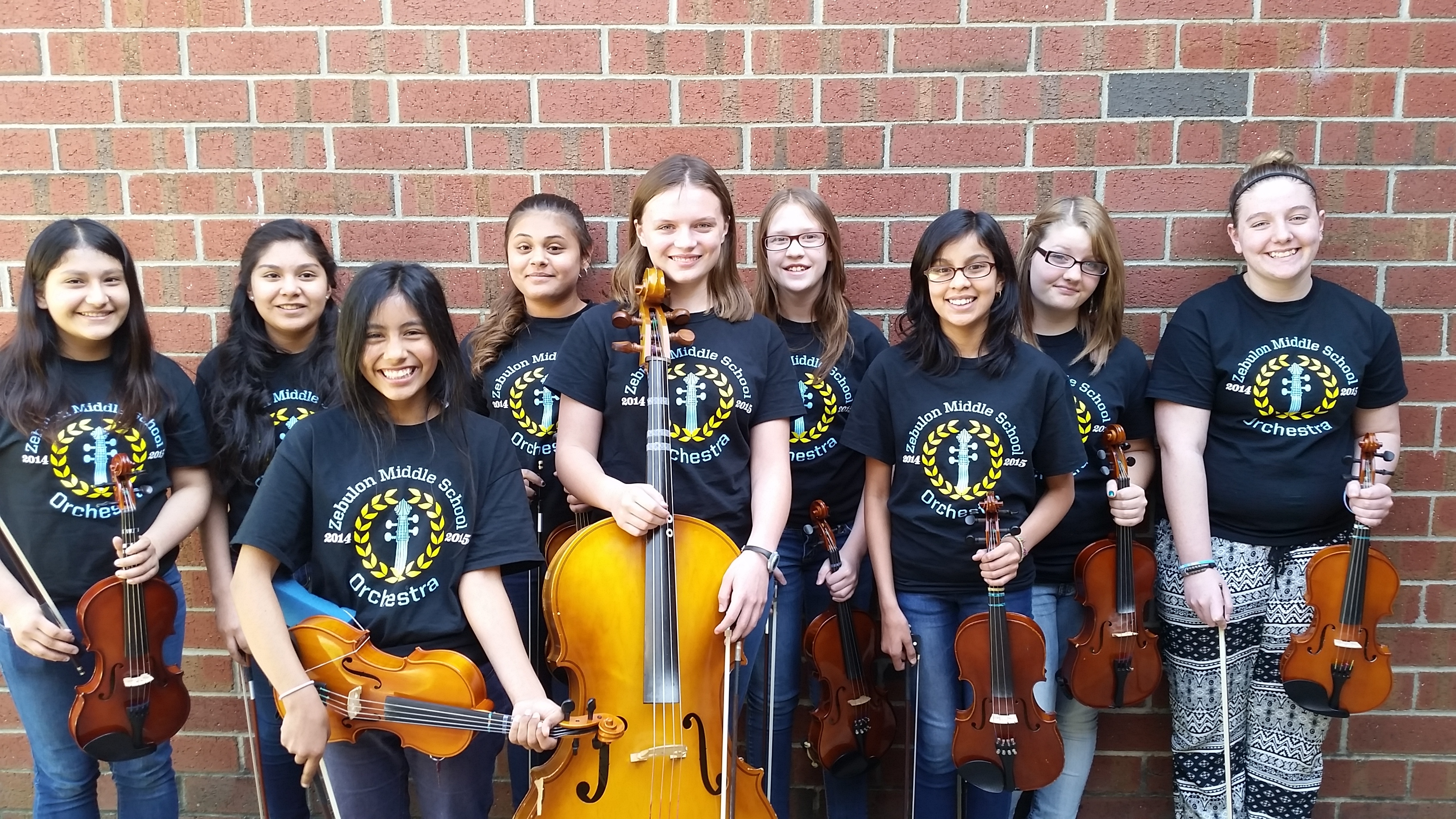 custom t shirts for zebulon middle school orchestra