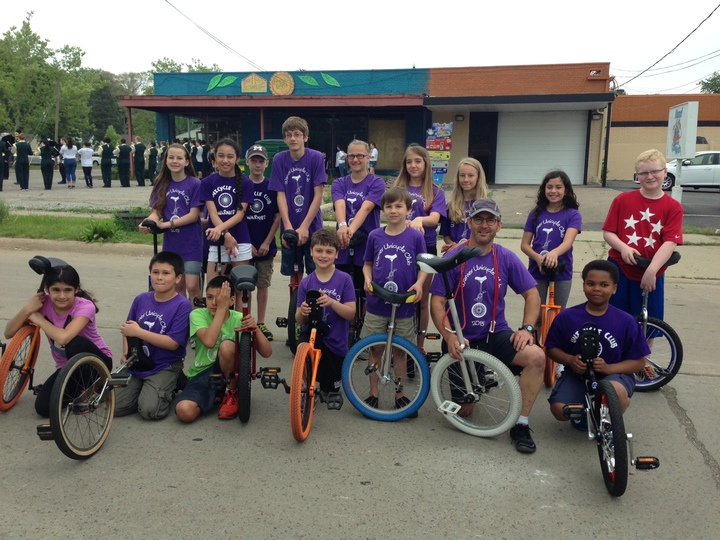 Warner Upper Elementary Unicycle Club T-Shirt Photo