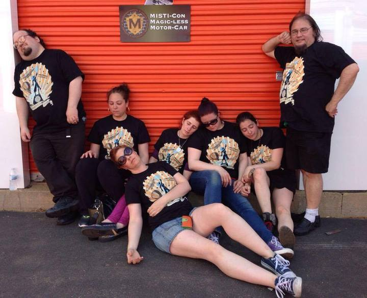 The Misti Con Team Gets A Well Deserved Rest T-Shirt Photo