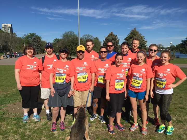 Occasions Catering @ Colfax 5k T-Shirt Photo