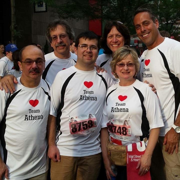 Team Athena @ 2015 Wall Street Heart Walk  T-Shirt Photo