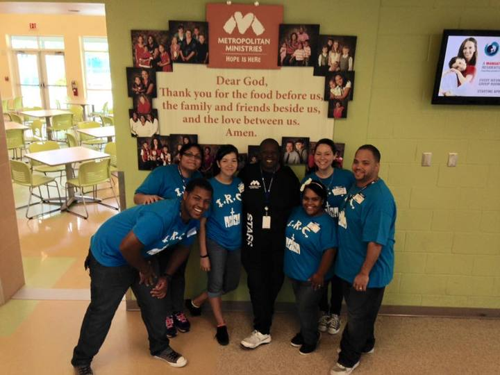 Youth Group Volunteering At Metropolitan Ministries T-Shirt Photo