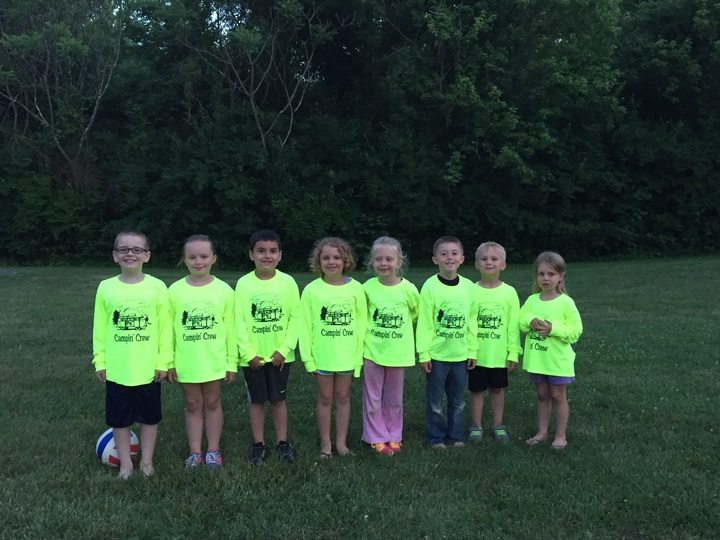 Kids Camping T-Shirt Photo