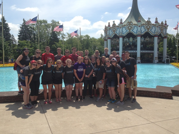 Radical Youth Group At Six Flags T-Shirt Photo