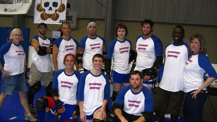 Ma Nifest Destiny Roller Derby Team T-Shirt Photo
