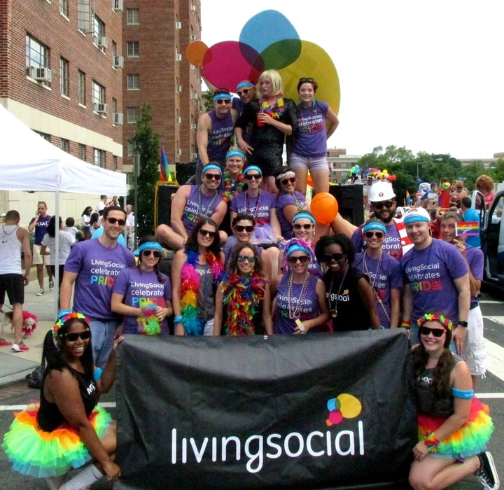 Living Social Living Pride @ Capital Pride Parade Dc T-Shirt Photo