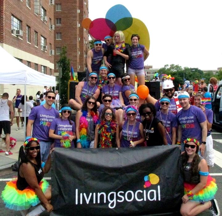Living Social Living Pride @ Capital Pride Parade Dc T-Shirt Photo