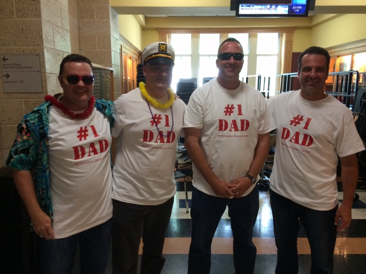 Dads At Performance Dance Recital T-Shirt Photo