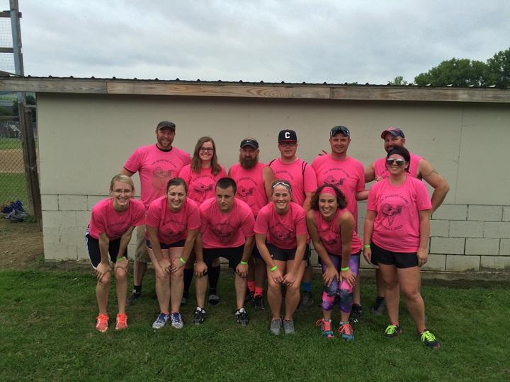 The Bearded Clams Softball Team T-Shirt Photo