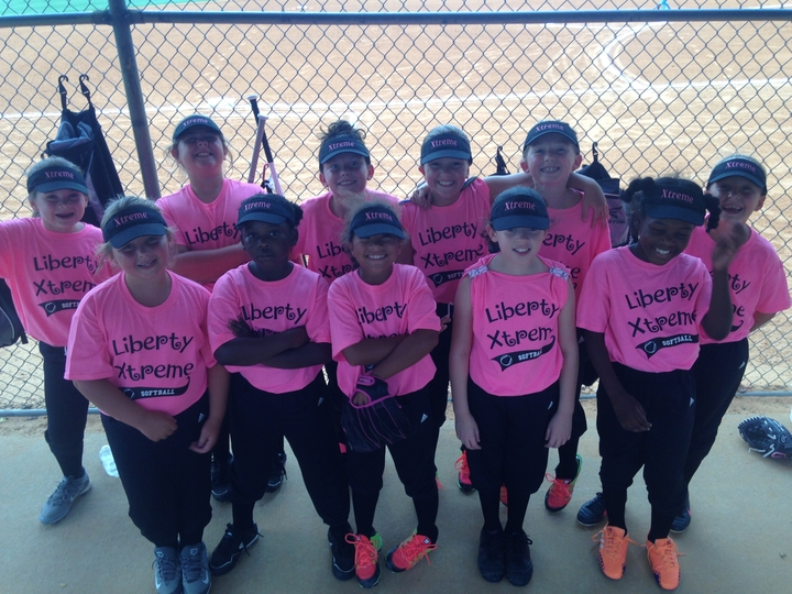 Xtreme 8 U Girls Softball Team T-Shirt Photo