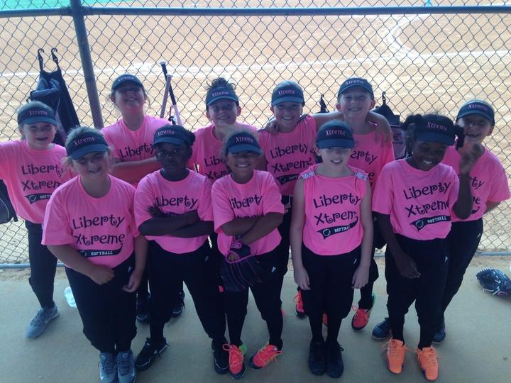 Xtreme 8 U Girls Softball Team T-Shirt Photo