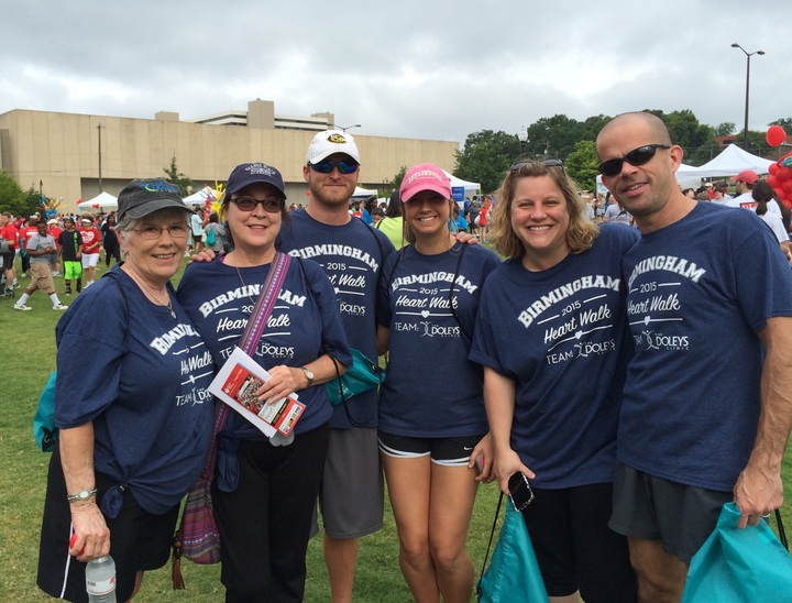 The Doleys Clinic Team At The Birmingham Heart Walk 2015 Event T-Shirt Photo