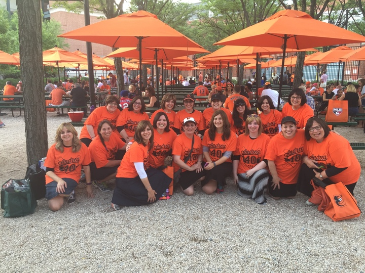 Andrea's 40th At Oriole Park!!! T-Shirt Photo