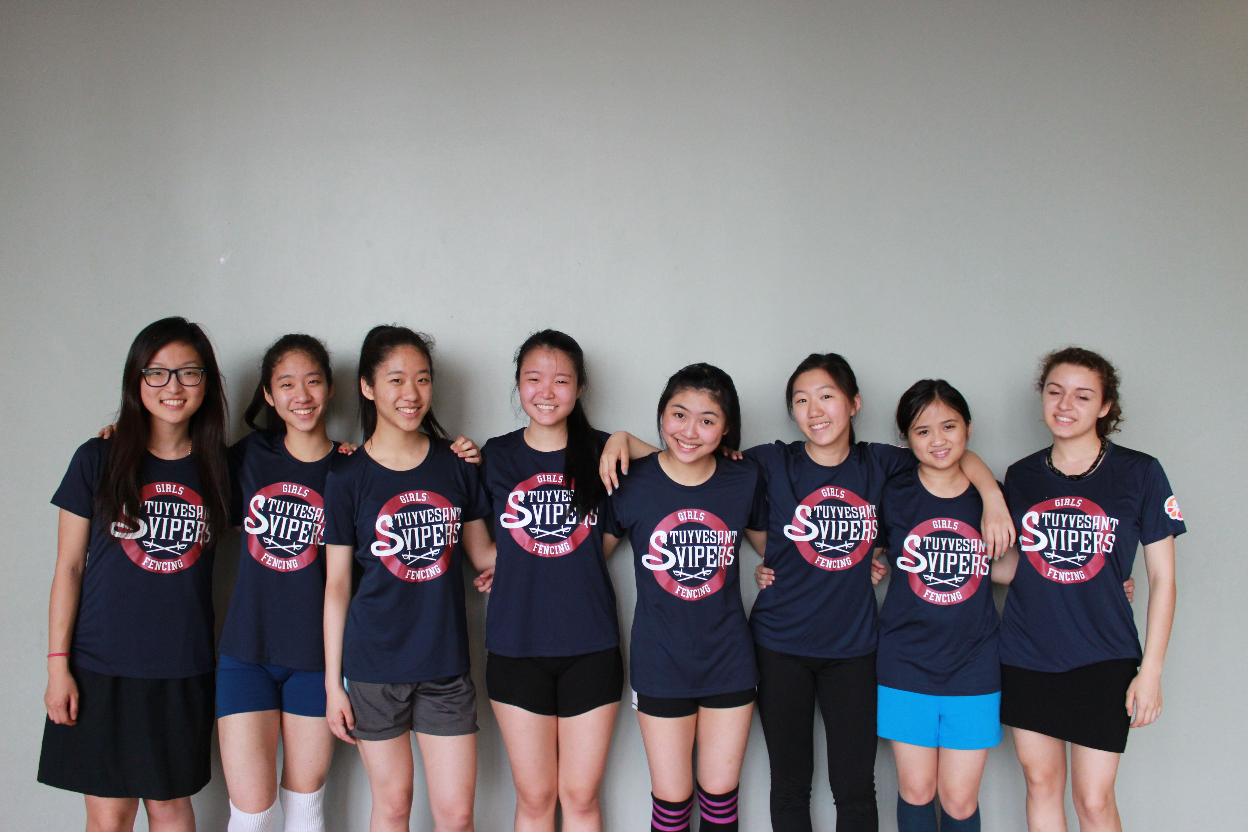 Design t shirt for group - Stuyvesant Vipers Girls Fencing Team T Shirt Photo