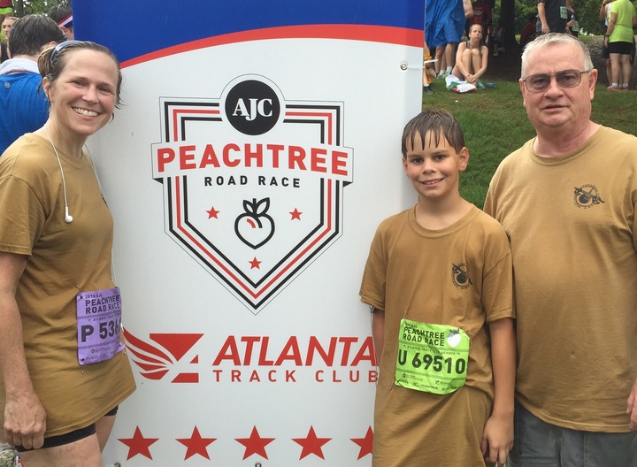 Supporting Our Troops At The Atlanta Peachtree Rd. Race T-Shirt Photo