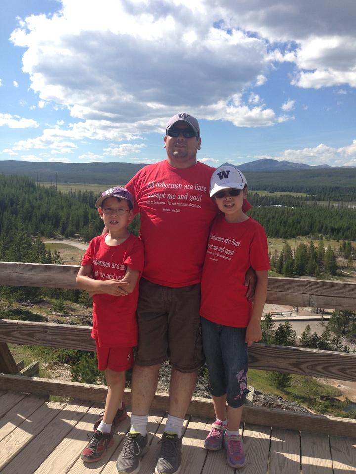 Having Fun In Yellowstone T-Shirt Photo