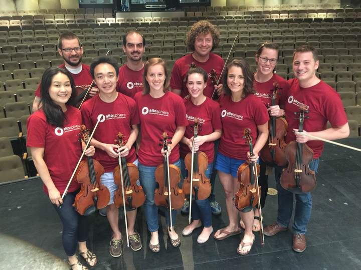 Viola Section Of Artosphere T-Shirt Photo
