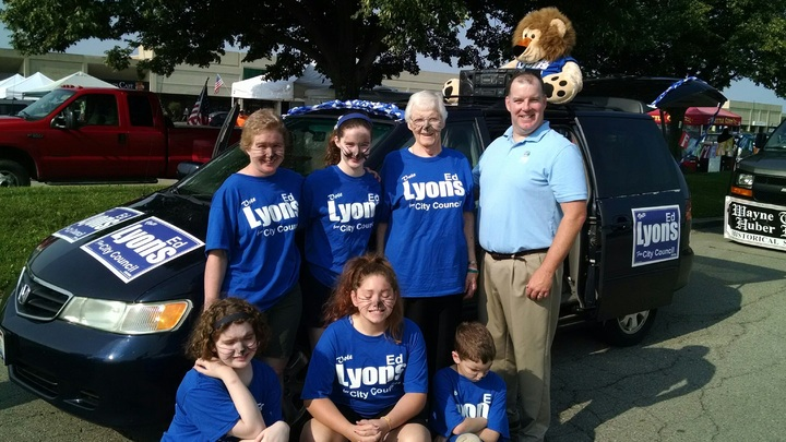 Vote Ed Lyons For City Council T-Shirt Photo