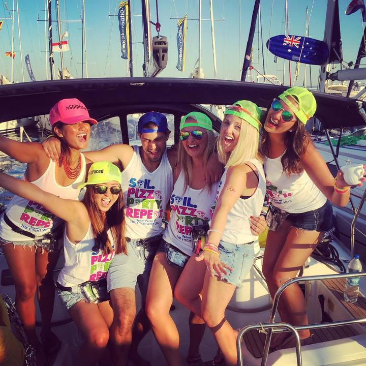 Team Pizza At The Yacht Week   Croatia! T-Shirt Photo
