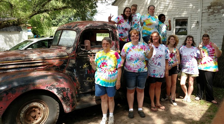 Tie Dye Campers T-Shirt Photo