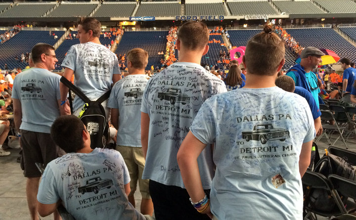 Lutheran Youth In Motor City T-Shirt Photo