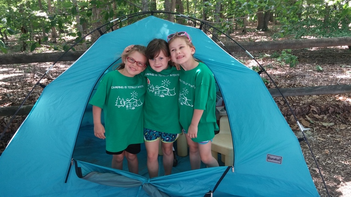 "Summer Camp 2015: ""Camping Is Totally In Tents!"" T-Shirt Photo"